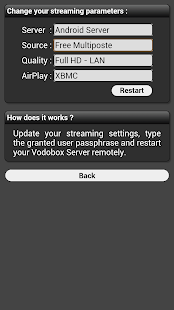 My VODOBOX Android Server- screenshot thumbnail
