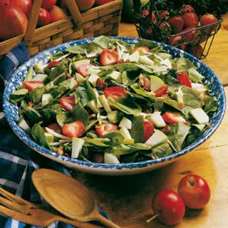Apple-Strawberry Spinach Salad.