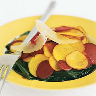 Shaved Baby Beets With Greens