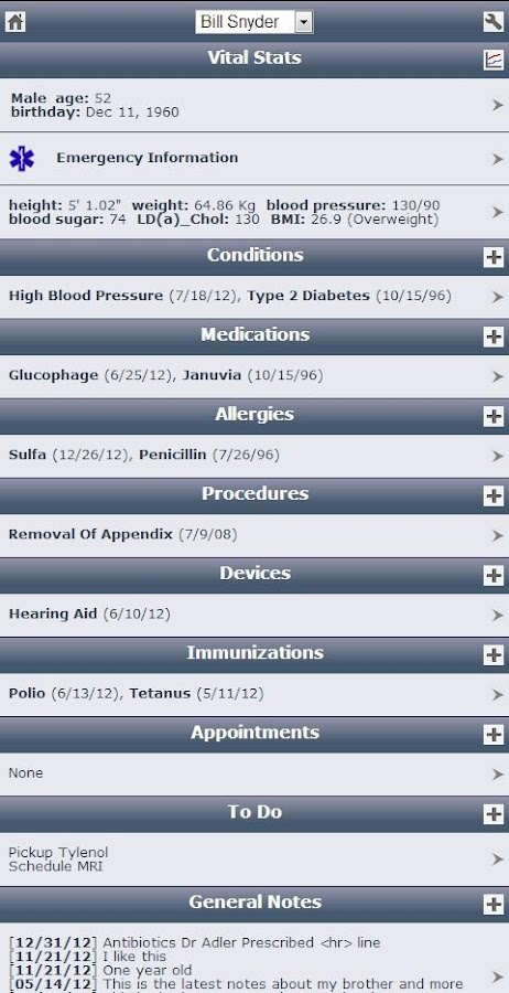 Track My Medical Records - screenshot