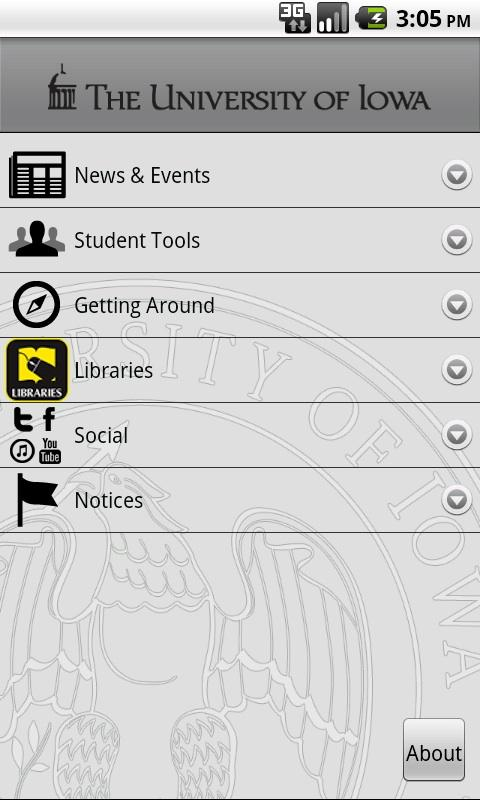 University of Iowa- screenshot