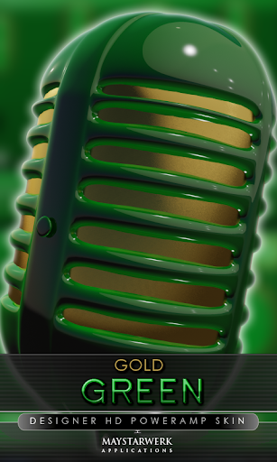 gold green poweramp skin