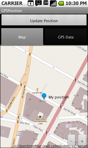 OpenStreetMap GPS Position