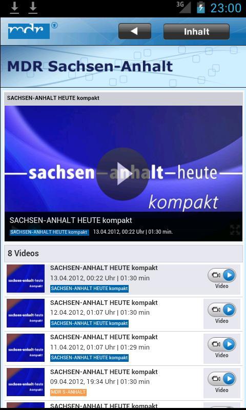 MDR Sachsen-Anhalt - screenshot