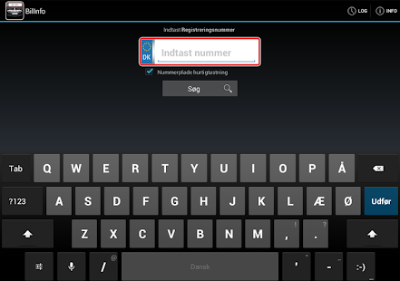 Bil Info nummerplade- screenshot thumbnail