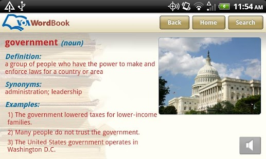 VoA Mobile Wordbook - screenshot thumbnail