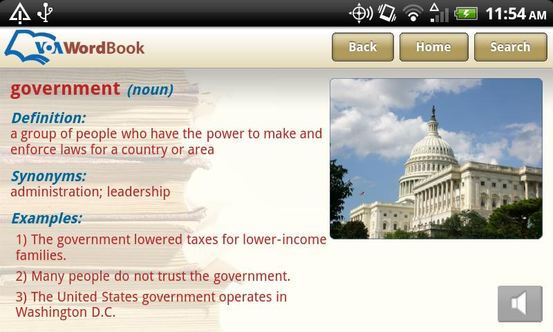 VoA Mobile Wordbook- screenshot
