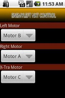 Screenshot of NXT Bluetooth Remote Control