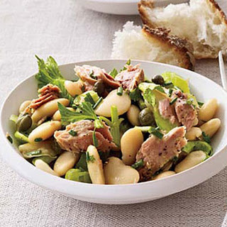 Butter Bean, Tuna and Celery Salad.
