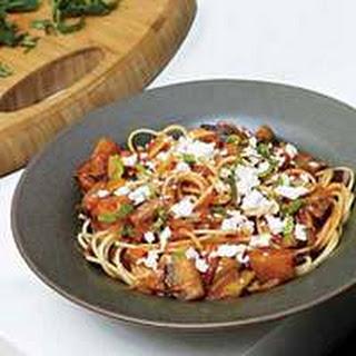 Caponata Spaghetti with Ricotta Salata