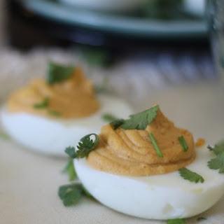 Cilantro Chipotle Deviled Eggs