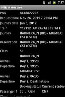 PNR status pro - screenshot thumbnail