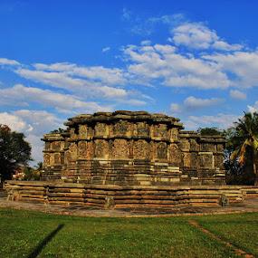 Kedaranatha Temple - Halebeedu by Guru Prasad - Buildings & Architecture Public & Historical ( temple, monument, historical, shiva, landscape,  )