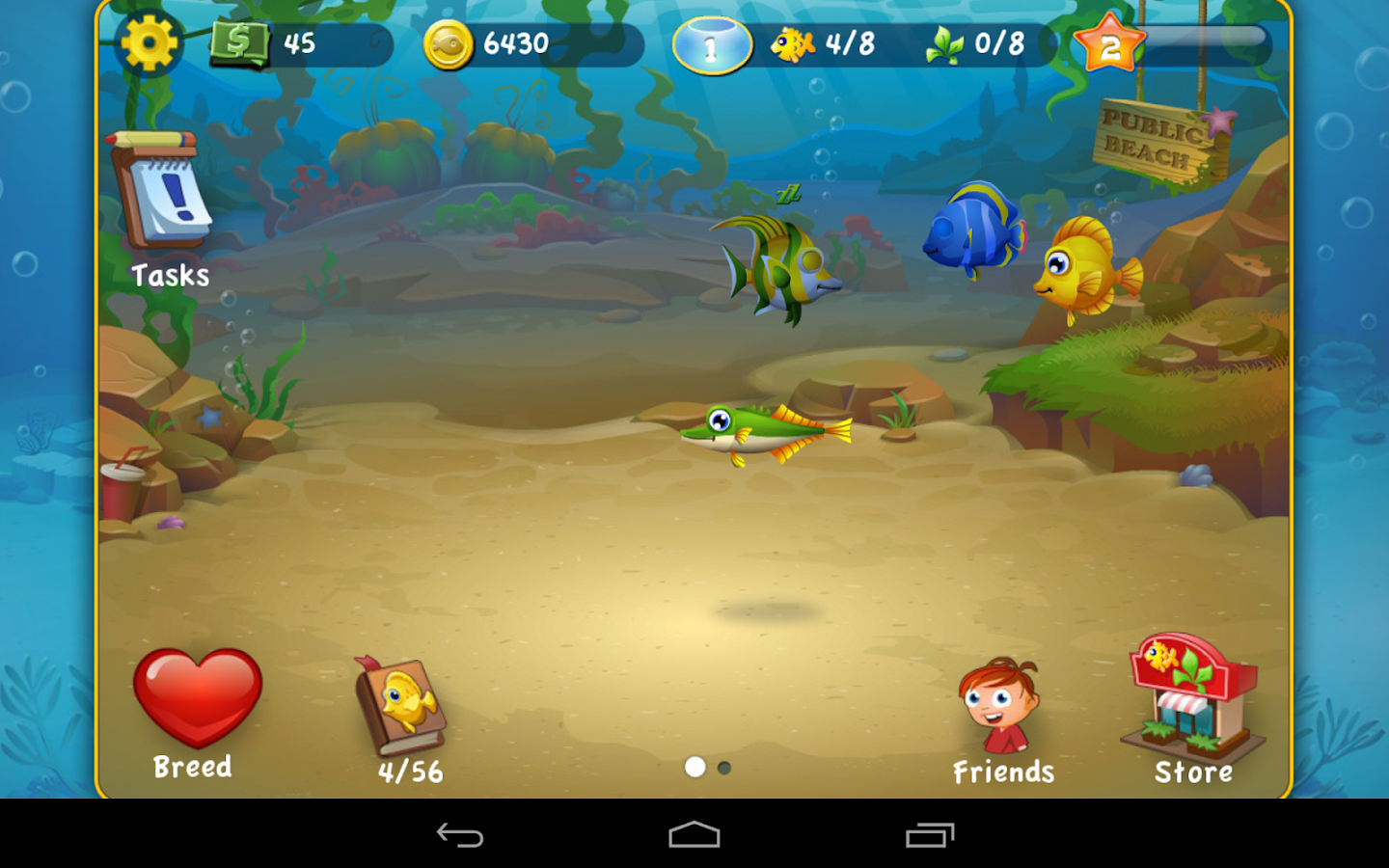 Pocket Fishdom - screenshot