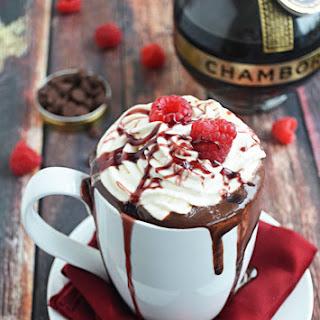 Boozy Raspberry Hot Chocolate