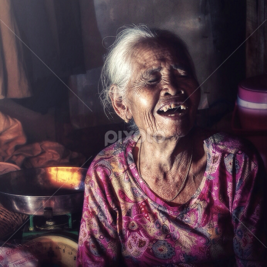 laughing by Asep Dedo - People Portraits of Women