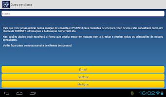 Screenshot of CPF/CNPJ – CONSULTA DE CHEQUES