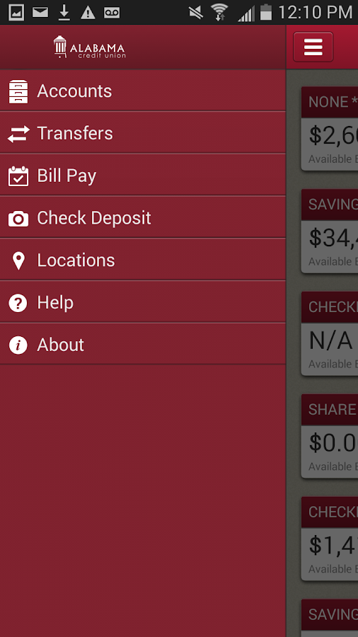 Alabama CU for Android- screenshot