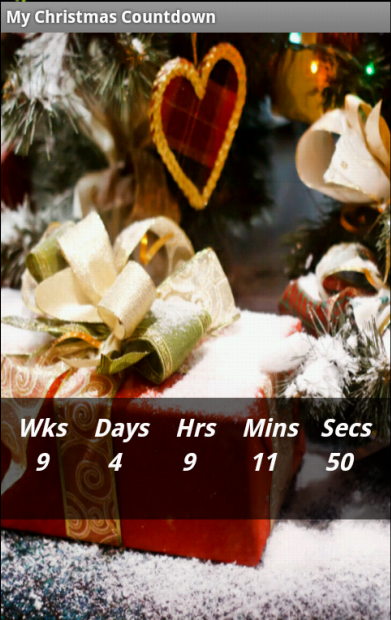 My Christmas Countdown- screenshot