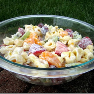 Creamy Fruit & Tortellini Salad.