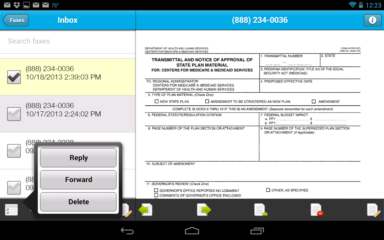 Sfax - Secure faxing on the go- screenshot