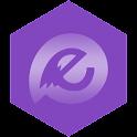 EvolveSMS Theme Minimus Purple icon