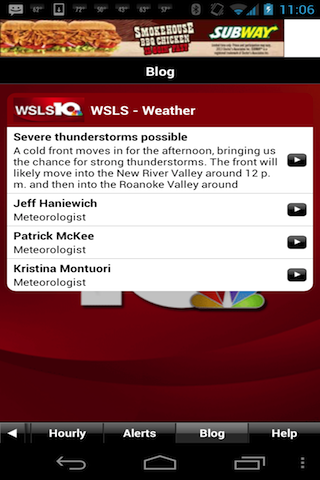 WSLS WX - screenshot