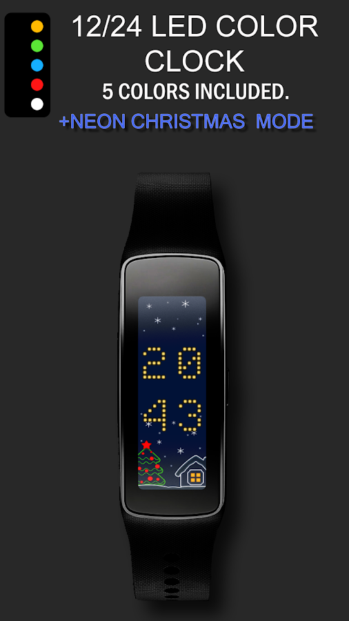 24/12 LED Clock for Gear Fit - Android Apps on Google Play