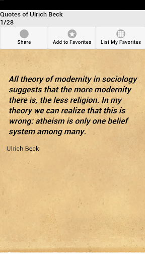 Quotes of Ulrich Beck