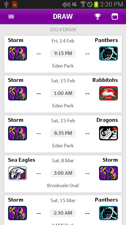 Melbourne Storm- screenshot