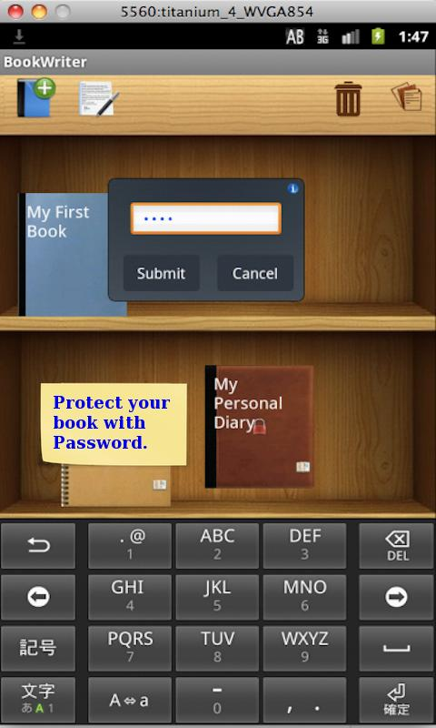 BookWriter (Notes/Book/Diary) - screenshot