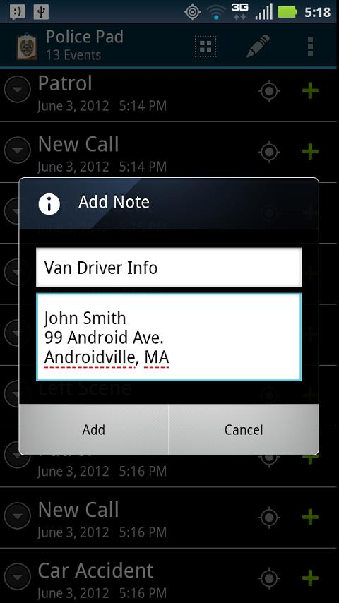Police Pad- screenshot