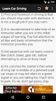 Screenshot of Learn Car Driving Theory