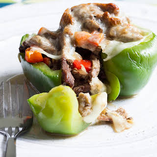 Skinny Cheesesteak Stuffed Peppers.