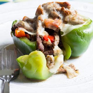Skinny Cheesesteak Stuffed Peppers.