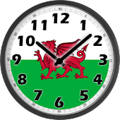 Wales Flag Analog Clock