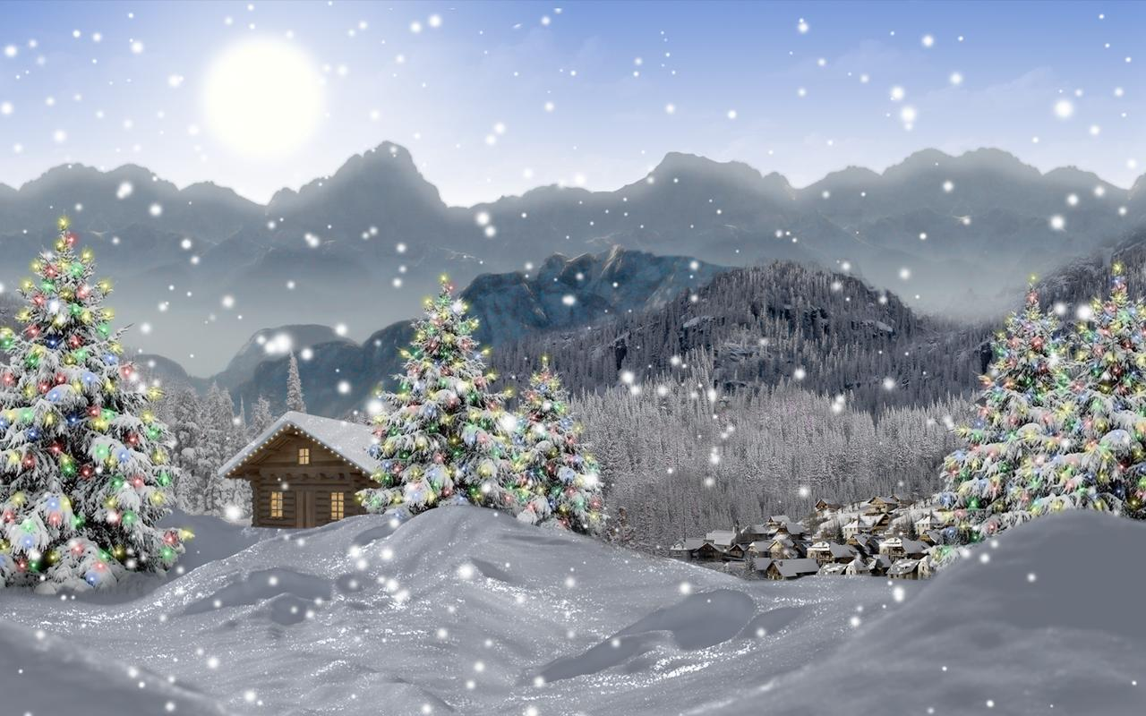 Winter Snow Xmas LWP Free - screenshot