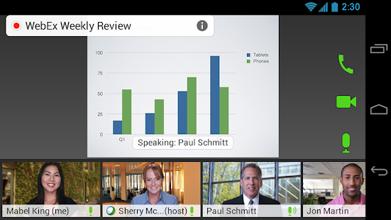Cisco WebEx Meetings - screenshot thumbnail