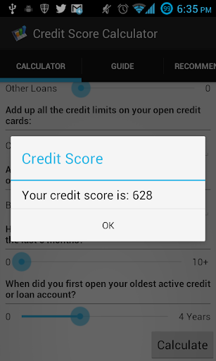 Free Credit Score Calculator