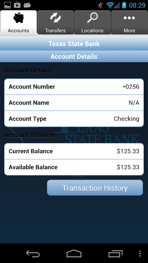 Texas State Bank Mobile Money - screenshot