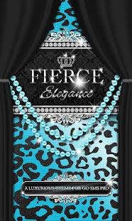 Luxury Theme Teal Leopard SMS★- screenshot thumbnail