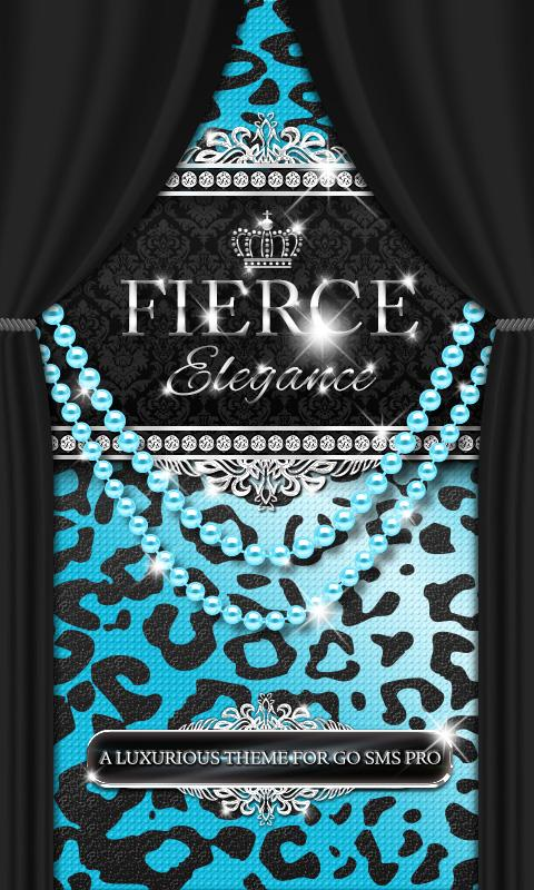Luxury Theme Teal Leopard SMS★- screenshot