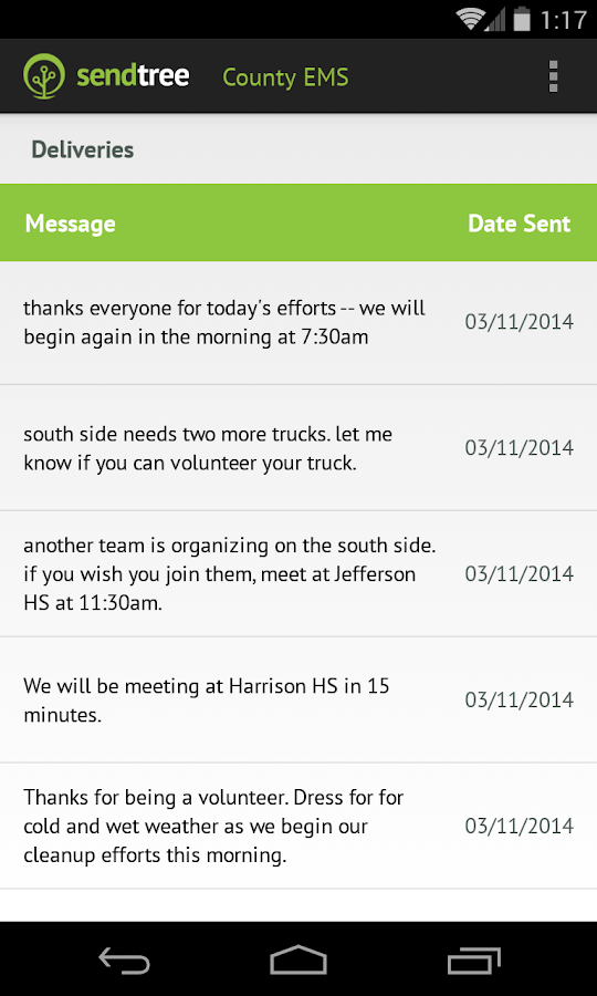 SendTree Text Message Service- screenshot