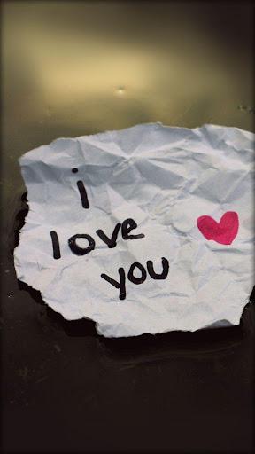 粉红色的壁纸我爱你