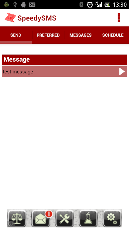 FlashSMS - screenshot