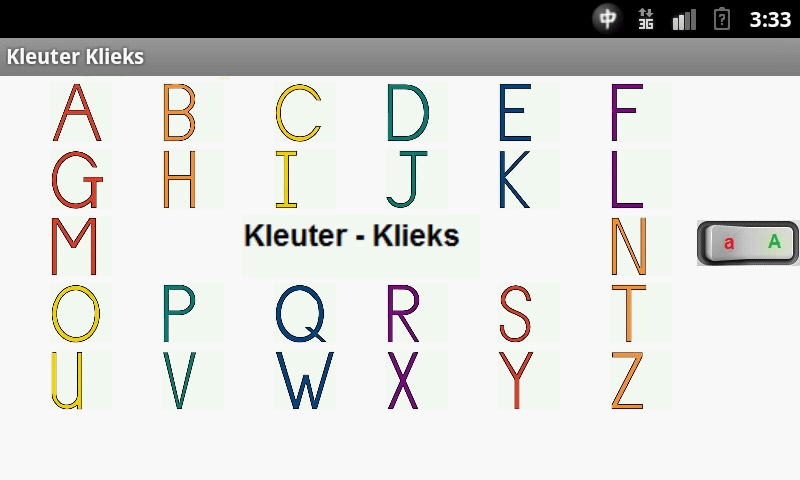 Toddler Alphabet in Afrikaans- screenshot