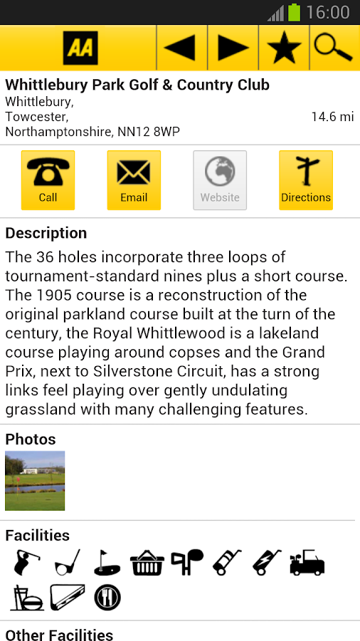 2013 AA Golf Guide - screenshot