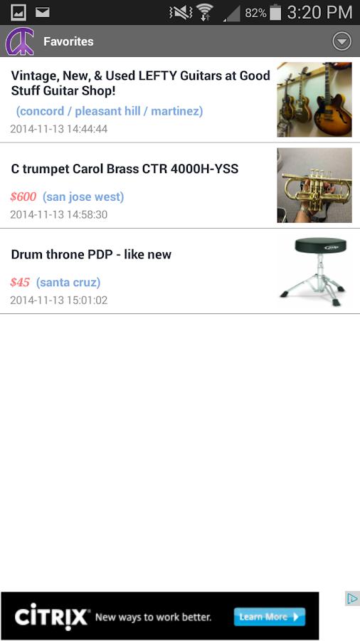 CNT craigslist app- screenshot
