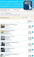 Screenshot of Cheap hotels & hostel deals