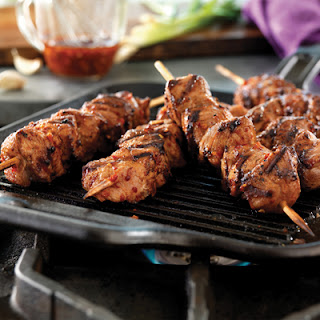 Spicy Korean Pork Skewers.